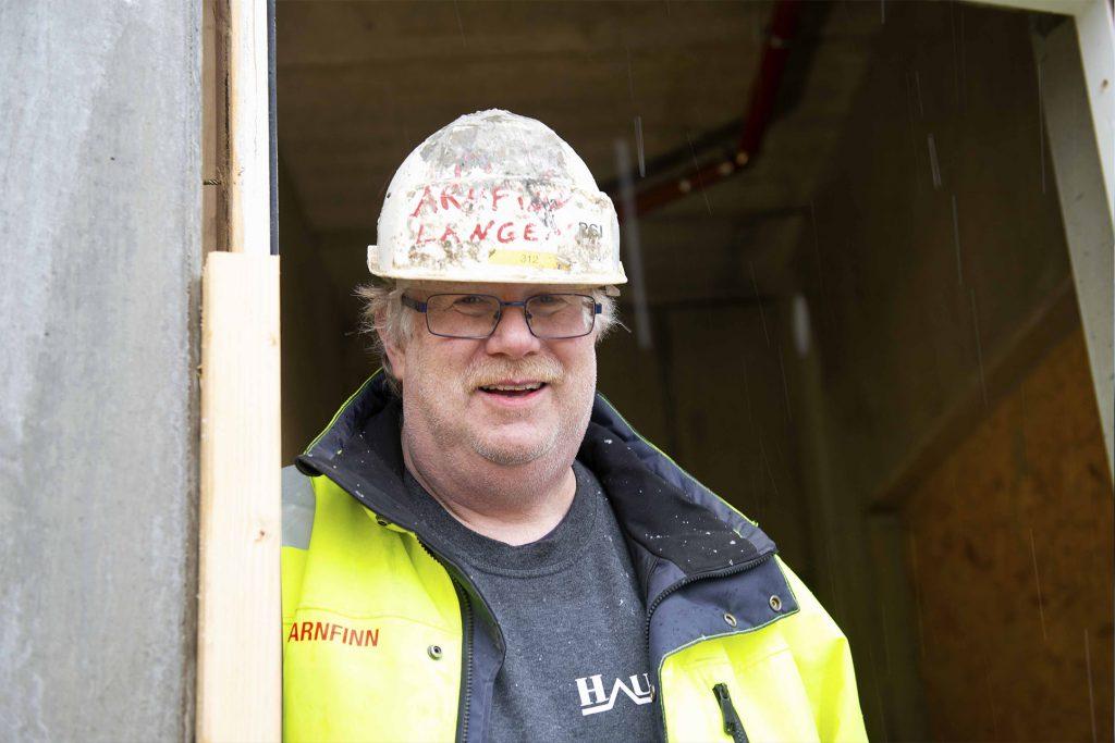 Arnfinn Langen hos Gulvbetong AS er tømreren som ble betongmester