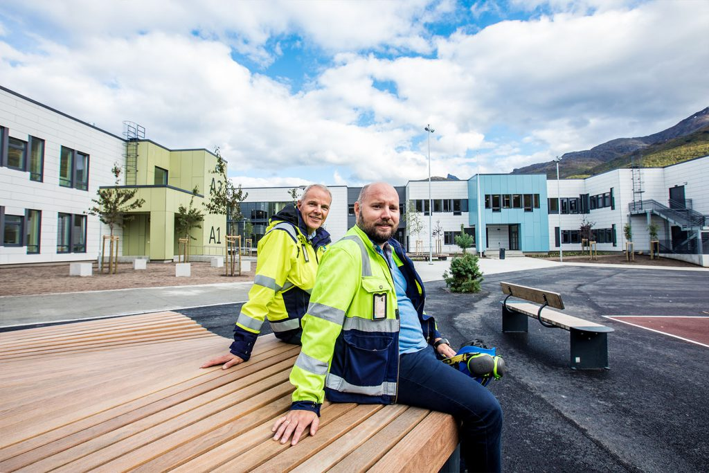 - Et meget sammensatt og lærerikt prosjekt, sier Tore Lorentzen fra BP3 Prosjekt som har hatt prosjektlederansvar for nye Narvik Ungdomsskole