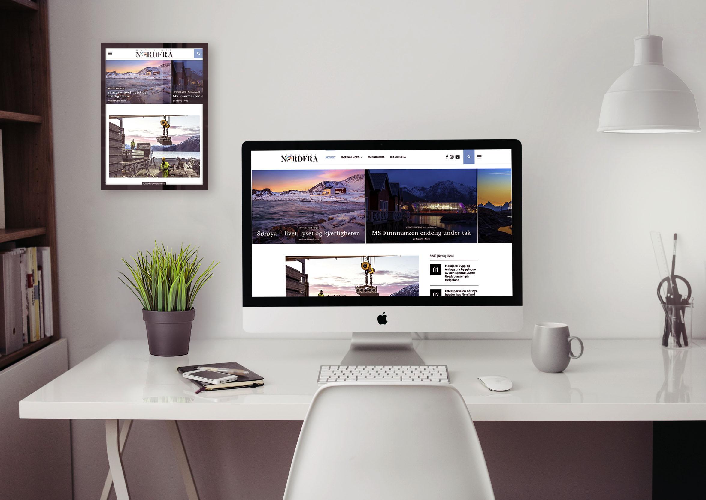 Nordfra.no og Næring i Nord er en innholdsleverandør som leverer tjenester innen tekst, foto, film, mediedesign, markedsføring og profilering.