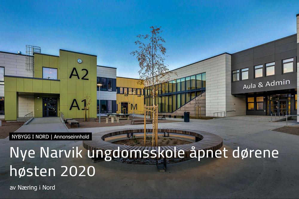 Nye Narvik Ungdomsskole åpnet dørene høsten 2020