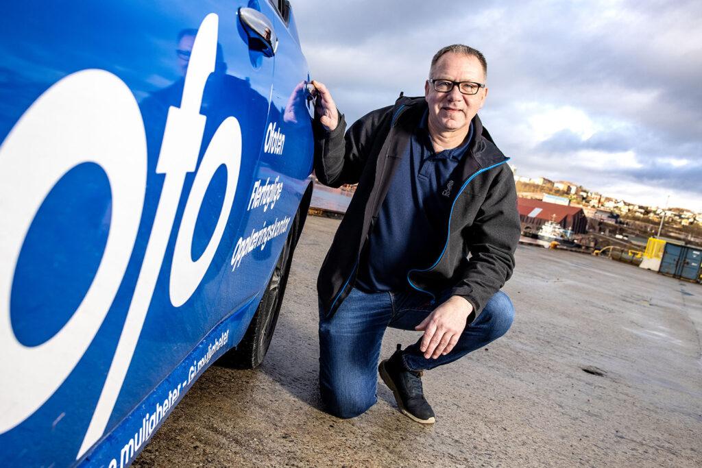 Daglig leder Jørn A. Pettersen hos Ofo er godt fornøyd med selskapet sin oppfriskete merkevare og logo.